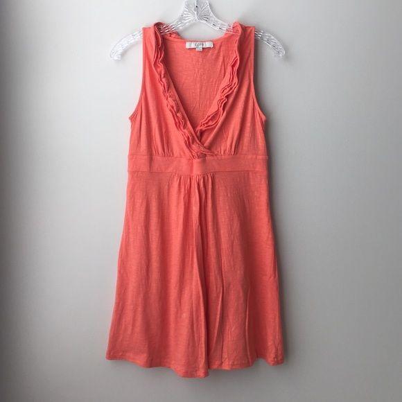 ANN TAYLOR LOFT women's coral summer sundress XS ANN TAYLOR LOFT women's coral summer sundress XS LOFT Dresses