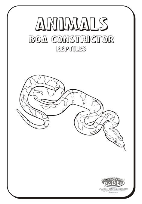 boa constrictor coloring page