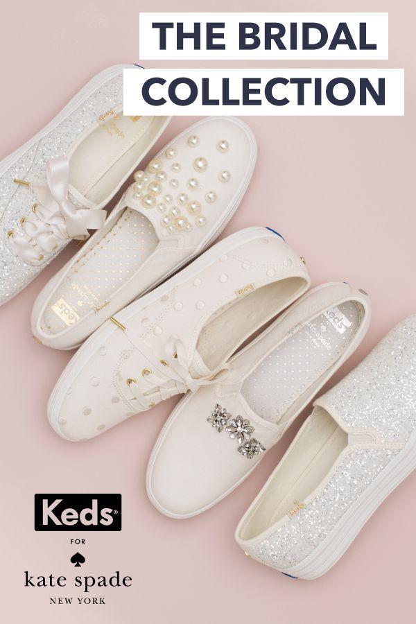 Easy glamour for the big day, or any other day. Introducing Keds x kate spade new york wedding collection: height without the heel, dance-all-night comfort, as cute with a gown as with jeans. Shop the collection and find a new forever love at Keds.com.