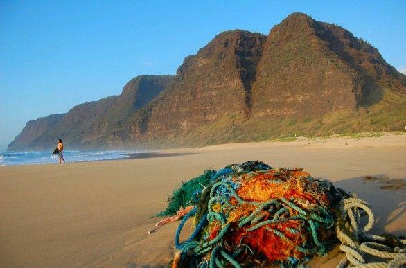 La spiaggia di Polihale sull'isola di Kauai alle Hawaii
