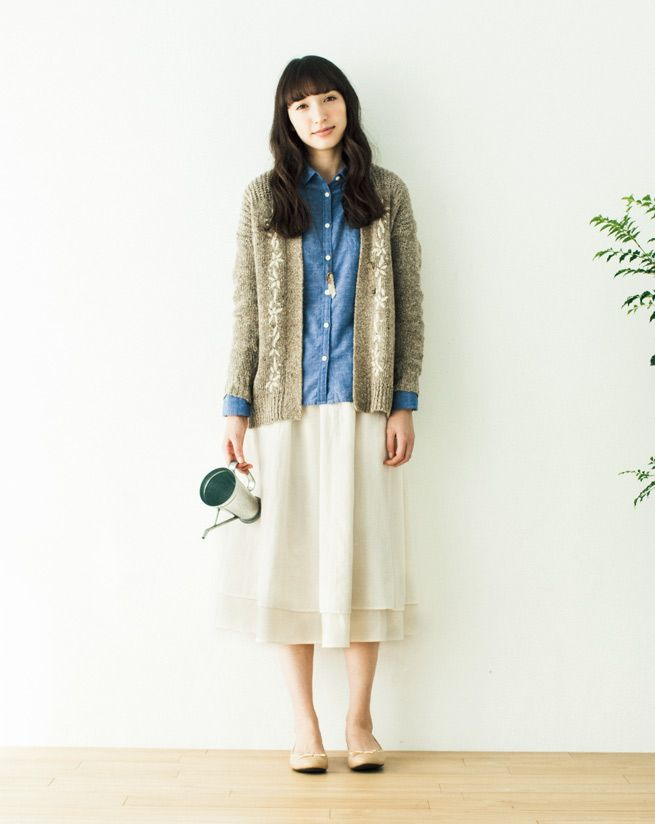 Eerbare kleding in de Japanse 'natuurlijke stijl'. Modest clothing in the Japanese natural style. 'Natural kei' (kei = style).