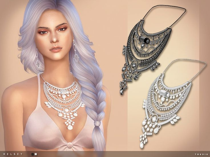 - 2 colours  Found in TSR Category 'Sims 4 Female Necklaces'