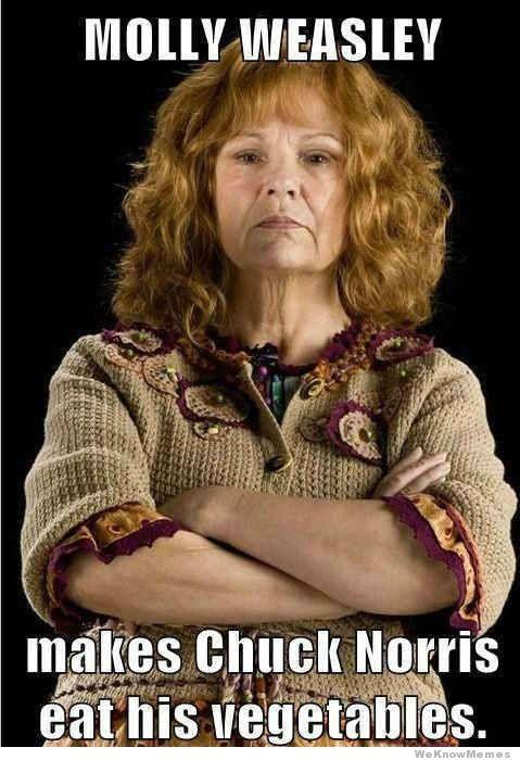 Molly Weasley-Badass Mum Extraordinaire!: Like A Boss, Stuff, Mollyweasley, Harry Potter Funny, Molly Weasley, Daughters, Harry Potter Humor, True Stories, Chuck Norris