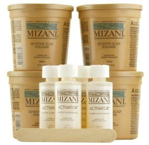 Mizani Rhelaxer for Sensitive Scalp Hair Relaxer with Arginine Technology - Kit by MIZANI. $41.99. Mizani Rhelaxer for Sensitive Scalp is a hair relaxer for sensitive scalps. This fortifying relaxer uses Arginine Technology. Contains a strength protecting formula with Arginine that leaves hair in perfect balance. Contains a combination of of oils, proteins and conditioners. Contents: 4 - 7.5 oz. Mizani sensitive scalp rhelaxer base 4 - 2 oz. Mizani Activator 4 - Wooden...