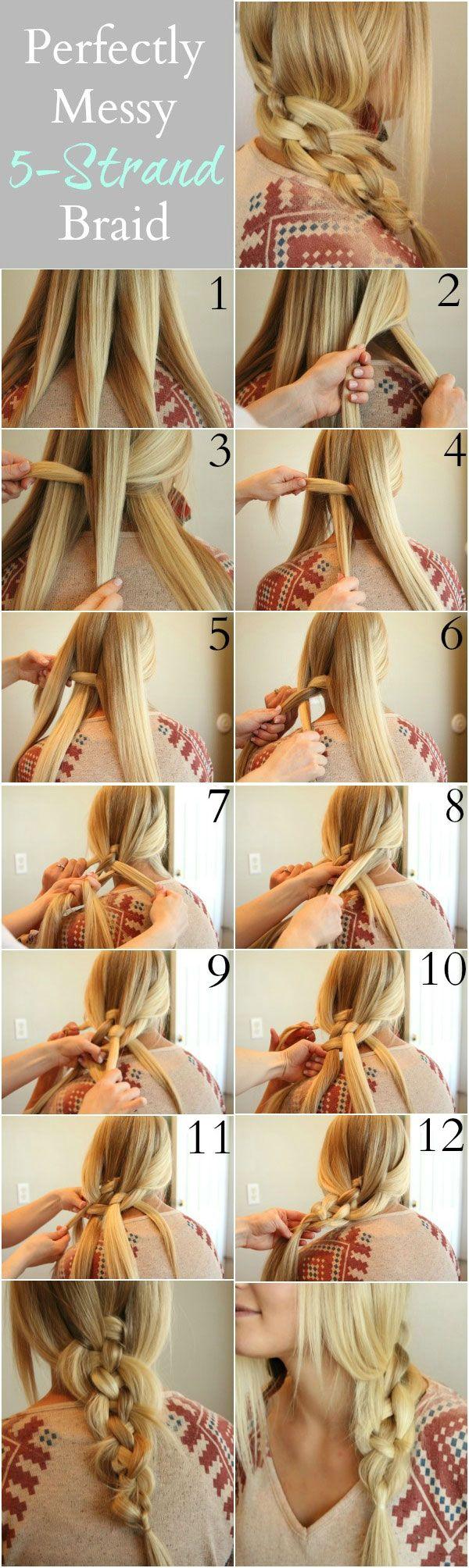 Easy Five Strand Braid Tutorial - Step By step