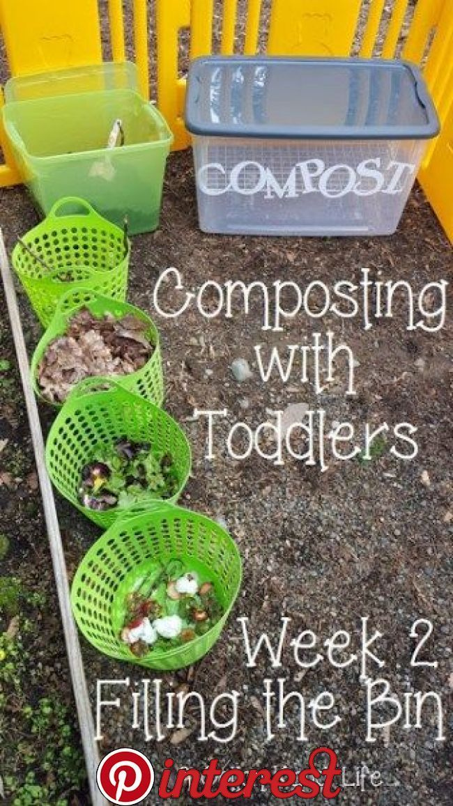 Composting With Toddlers Making A Compost Bin Preschool Garden
