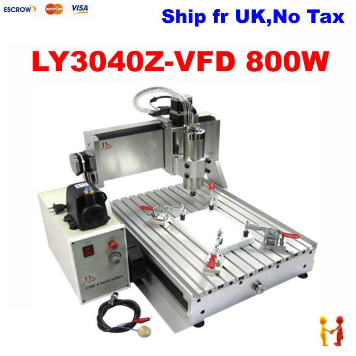 1280.00$  Buy here - http://alijhs.worldwells.pw/go.php?t=32346239442 - Europe No tax ! mini desktop cnc router machine 3040 Z-VFD 800w 3 axis 0.8KW VFD water cooling spindle  cnc machine