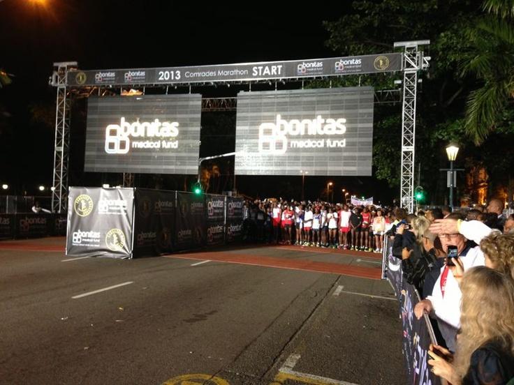 Bonitas branding at Comrades 2013 Start line