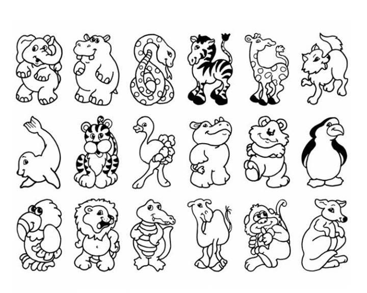 Zoo Animals Colouring Sheet