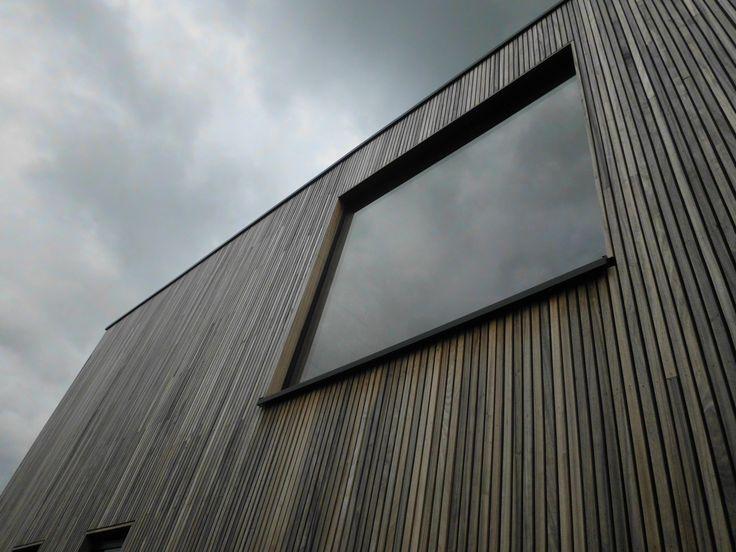 gevel in houten latjes - padoek - architect a.wildro