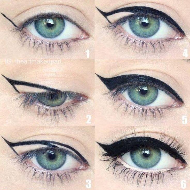 طريقة سهله لرسم ايلاينر #السعودية #riyadh #makeup