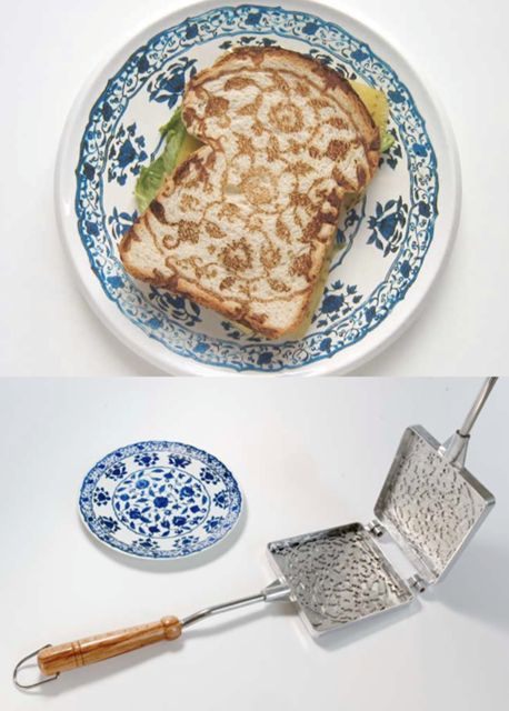 Match your toast to your chinaIdeas, Food, Amazing Kitchens Gadgets, Fancy Toast, Breads, Grilled Cheese, Beautiful Toast, Pretty, Products