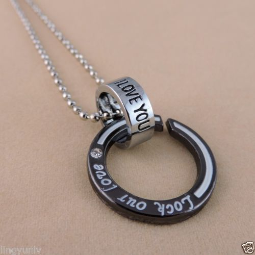38893 Vintage Alloy Personality Circle Necklace Chains Length 51 cm 1PC