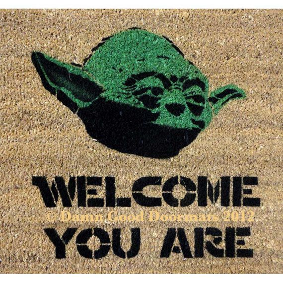"""Welcome guests with this Master Yoda mat. 