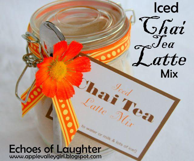Iced Chai Tea Latte Mix | gift ideas | Pinterest