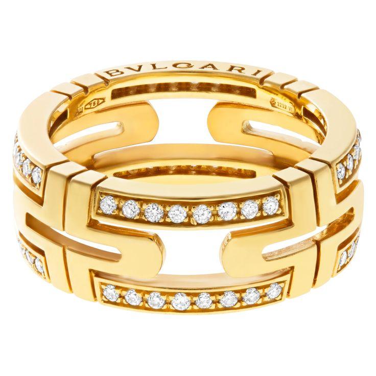 bvlgari parentesi ring in 18k with diamonds