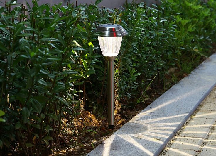 Voona's LED Solar Path Lights charge during the day on their own and illuminate for up to eight hours after dark to make sure your delicate shrubbery is seen and your path lit.