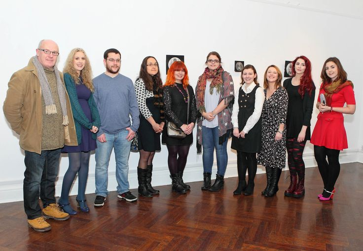 Evelyn Power, Visual Arts & Outreach Manager, Garter Lane Arts Centre and Waterford Institute of Technology Art Head John O'Connor pictured with the students from the 4th year Waterford Institute of Technology Department of Creative and Performing Arts students Julia Cottle, Doris Reinisch, Marianne Heaphy, Ann Marie Brett-Jennings, Louise O'Neill, Amii McGuinness, Garreth Gleeson and Kim Stuart-Williams. - www.noelbrownephotographer.com