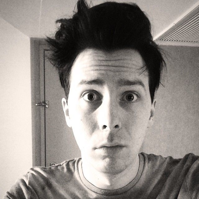 Oh Phil and his morning hair