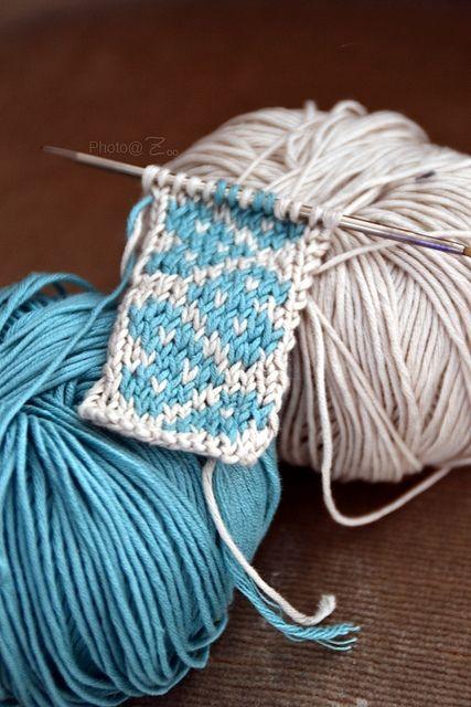 Jacquard   Knitting   Premier pas en jacquard réalisé en cot…   Flickr