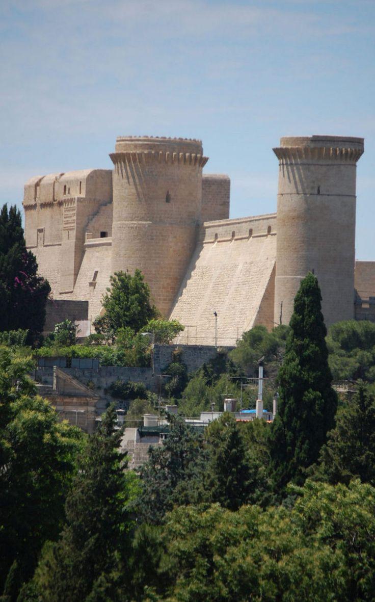 The medieval castle of Oria, Puglia, Italy. Origin 11th - 13th century.