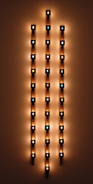 Susan Hiller - Triptych, 1991/2008 - Power strips, night lights, custom brackets and 32 35mm slides