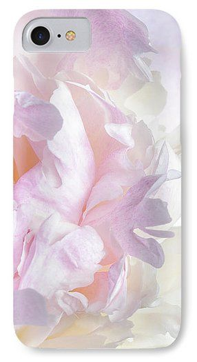 Jane Star IPhone 7 Case featuring the photograph Vanilla-pink Lace-1 by Jane Star  #JaneStar #IPhoneCase #Abstract #Peony #Flower #PalePink
