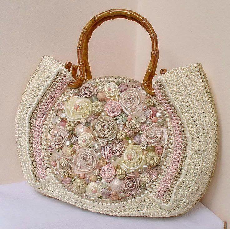 Mosaico de Artes: Bolsa de crochê customizada