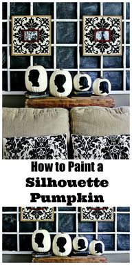 How to Paint Silhouette pumpkins!