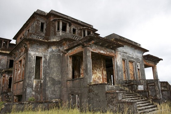 Abandoned French Town in Cambodia.  It was called Bokor Hill Station.