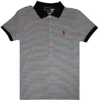 Women's Ralph Lauren Sport Short Sleeve Polo Shirt White with Black Stripes (Medium) Ralph Lauren. $64.99