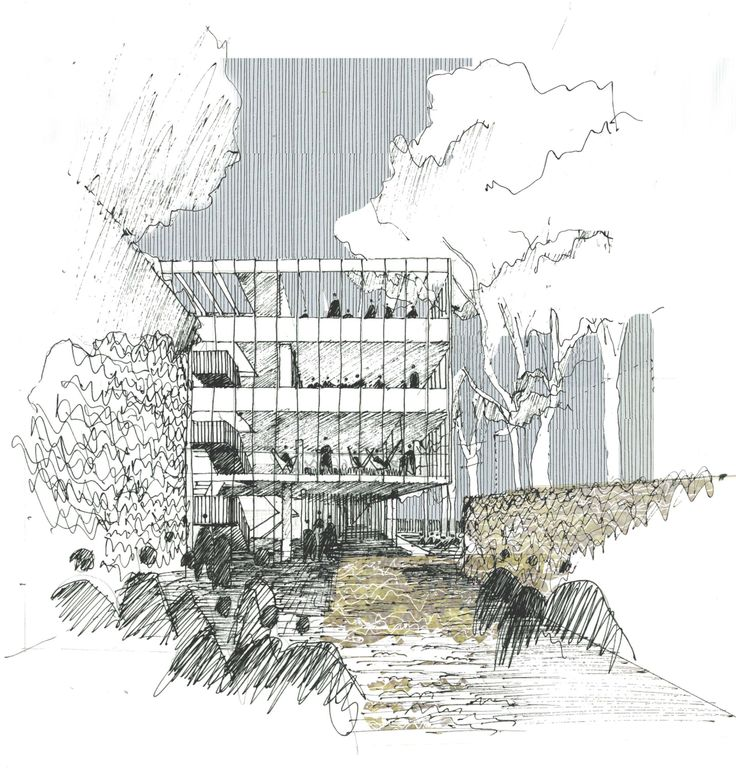 Best Architectural Sketches Drawings Images On Pinterest