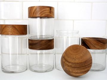 Wood Top Canisters