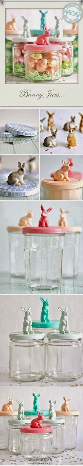 Easy DIY Crafts: Bunny jars,, Easy to made