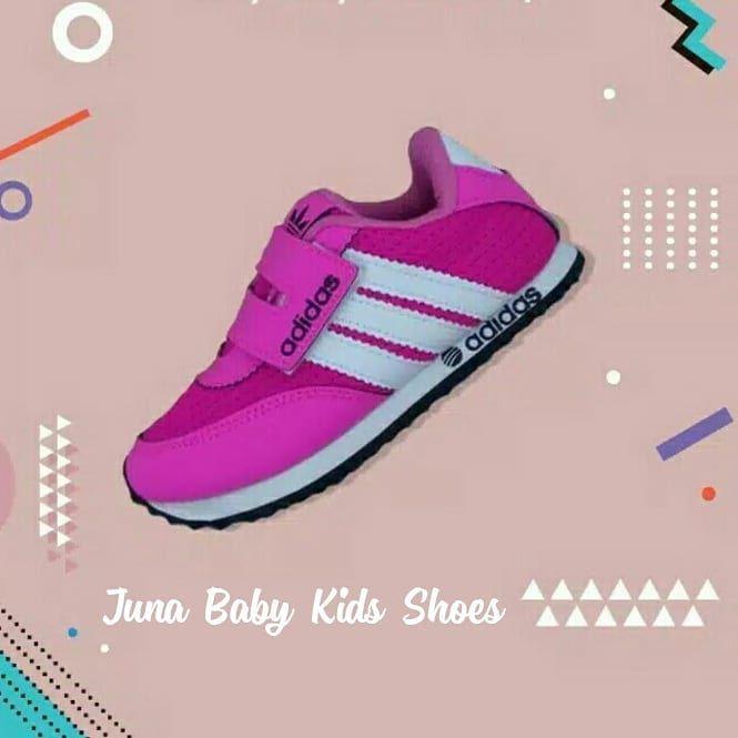 Sepatu Adidas Anak Velcro Pink White Size 24 37 Price 129k Kelebihan Sepatu Bahan Kulit Polyurethane Memiliki Daya Tahan Dan Kuali Adidas Adidas Sneakers Sneakers