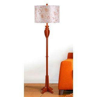 Wayland 1-light Orange Floor Lamp | Overstock.com Shopping - Great Deals on Floor Lamps