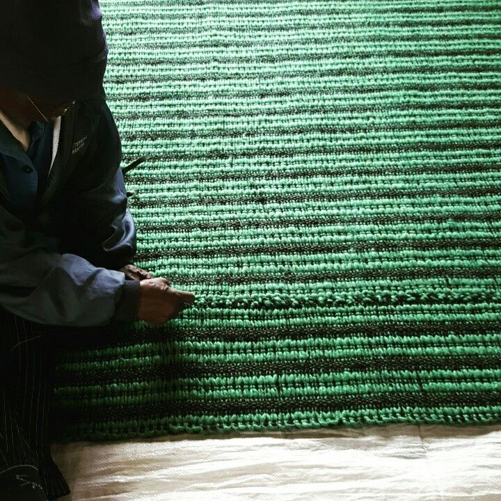 Mohair ribbed carpet in custom colour