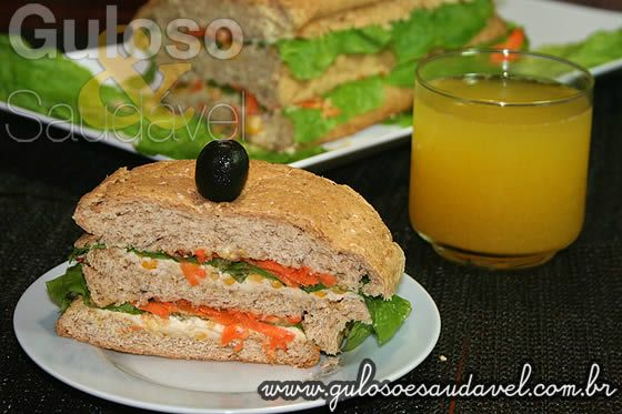 Sanduíche de Frango » Receitas Saudáveis, Sanduíches » Guloso e Saudável