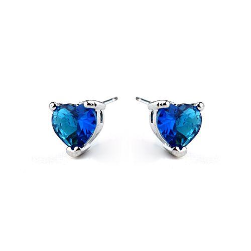 В форме сердца океана серьги с австрийской кристалл стад серьги модели серебряные серьги для свадьбы