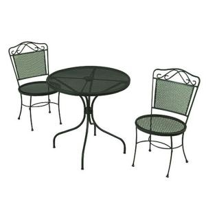 Green Wrought Iron 3 Piece Patio Bistro Set W3929 3pc Gr At The Home Depot Home Pinterest
