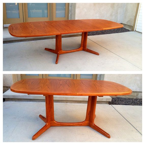 Mid Century Danish Teak Dining Table By Niels Moller For Gudme Mobelfabrik    Seats 6