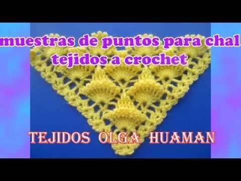 Châle point salomon au crochet / chale a crochet punto salomon - YouTube