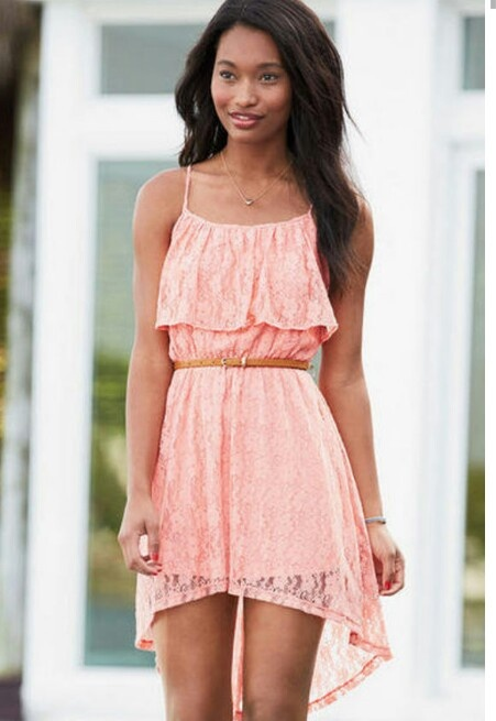 Idea necessary pink lace summer dress consider