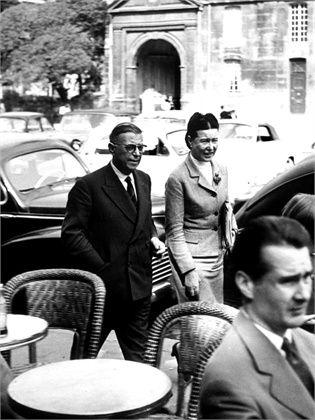 Simone de Beauvoir + Jean-Paul Sartre, Paris late 50s, GettyImages