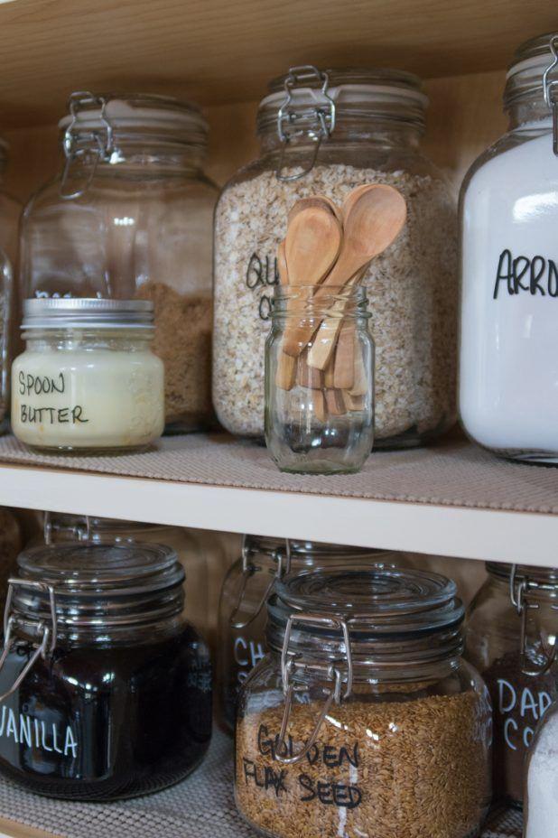 Baking Cupboard Storage Organization Glass Food Storage