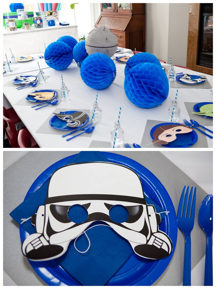 Star Wars Birthday Party:  a different mask at each place setting