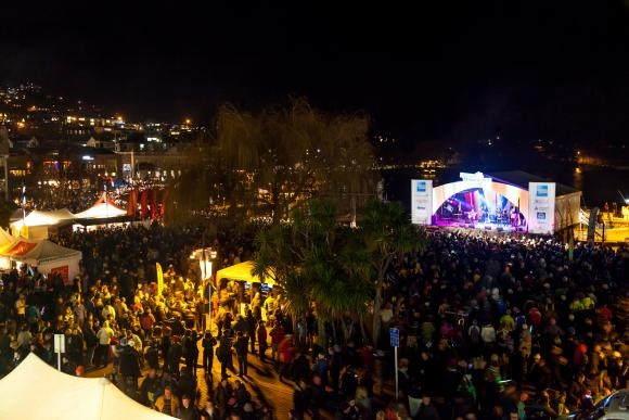 American Express Opening Party - Earnslaw Park, Downtown Queenstown. It's always a huge opening night with music, food stalls and fireworks!