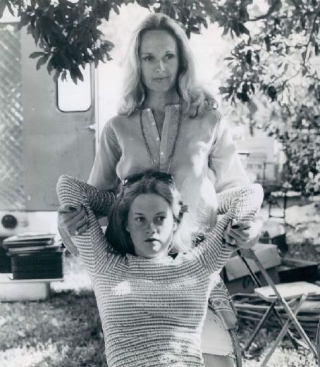 Tippi Hedren with her daughter, Melanie Griffith