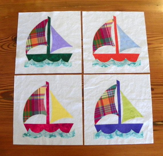 Quilt Block Set  Calypso Breeze by MyMaisieDesigns on Etsy, $20.00