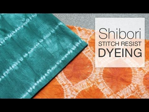 This DIY tutorial shows you how to dye fabric using the Shibori tie-dye stitch resist technique. You can stitch any design or pattern you can think of onto t...